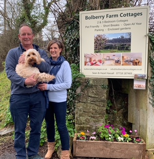 Bolberry Farm Cottages- Dog Award Sign Board