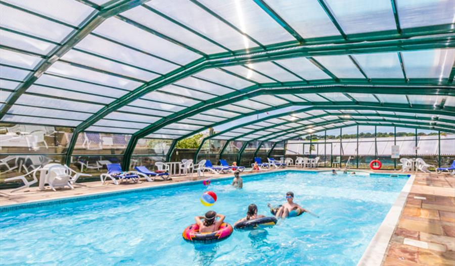 Andrewshayes Holiday Park camping caravanning holiday homes Devon free swimming pool