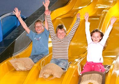 Slides and rides at Crealy