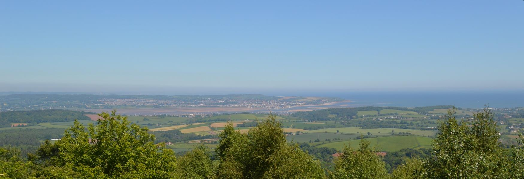 Mamhead view towards Exmouth