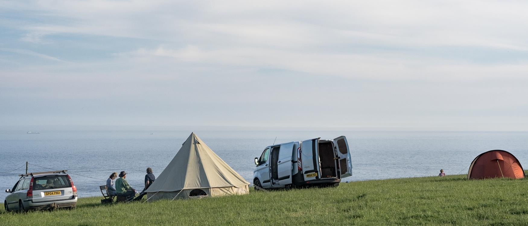 camping overlooking the sea