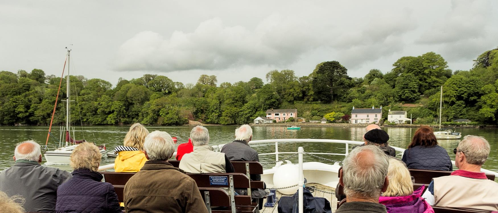 Boat tour on the River Dart