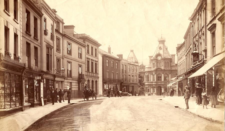 Fore Street, Tiverton, c.1900