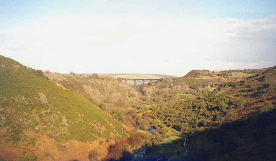 Photo of West Okement Valley and Meldon Viaduct