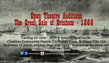 Open Theatre Auditions: The Great Gale of Brixham 1866