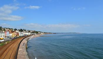 Dawlish seafront and train line
