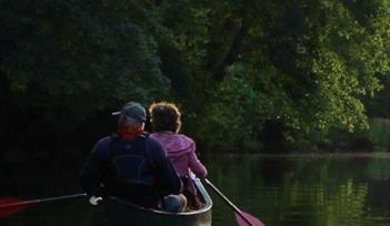 Evening Paddle by Canoe