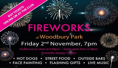 Fireworks at Woodbury Park