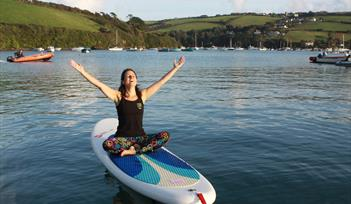 Stand Up Paddleboard Yoga on Kingsbridge Estuary with Simply Soulful Yoga