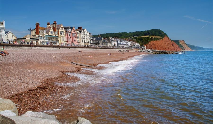Sidmouth Beach and Cliffs