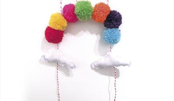 Create a Pom Pom Rainbow & Foam Clay Decoration - children's crafternoon workshop